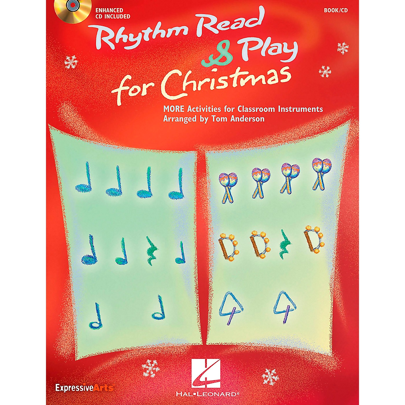 Hal Leonard Rhythm Read And Play For Christmas - MORE Activities for Classroom Instruments Book/CD thumbnail