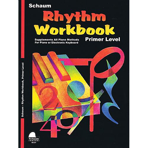 SCHAUM Rhythm Workbook (Primer) Educational Piano Book by Wesley Schaum (Level Elem) thumbnail