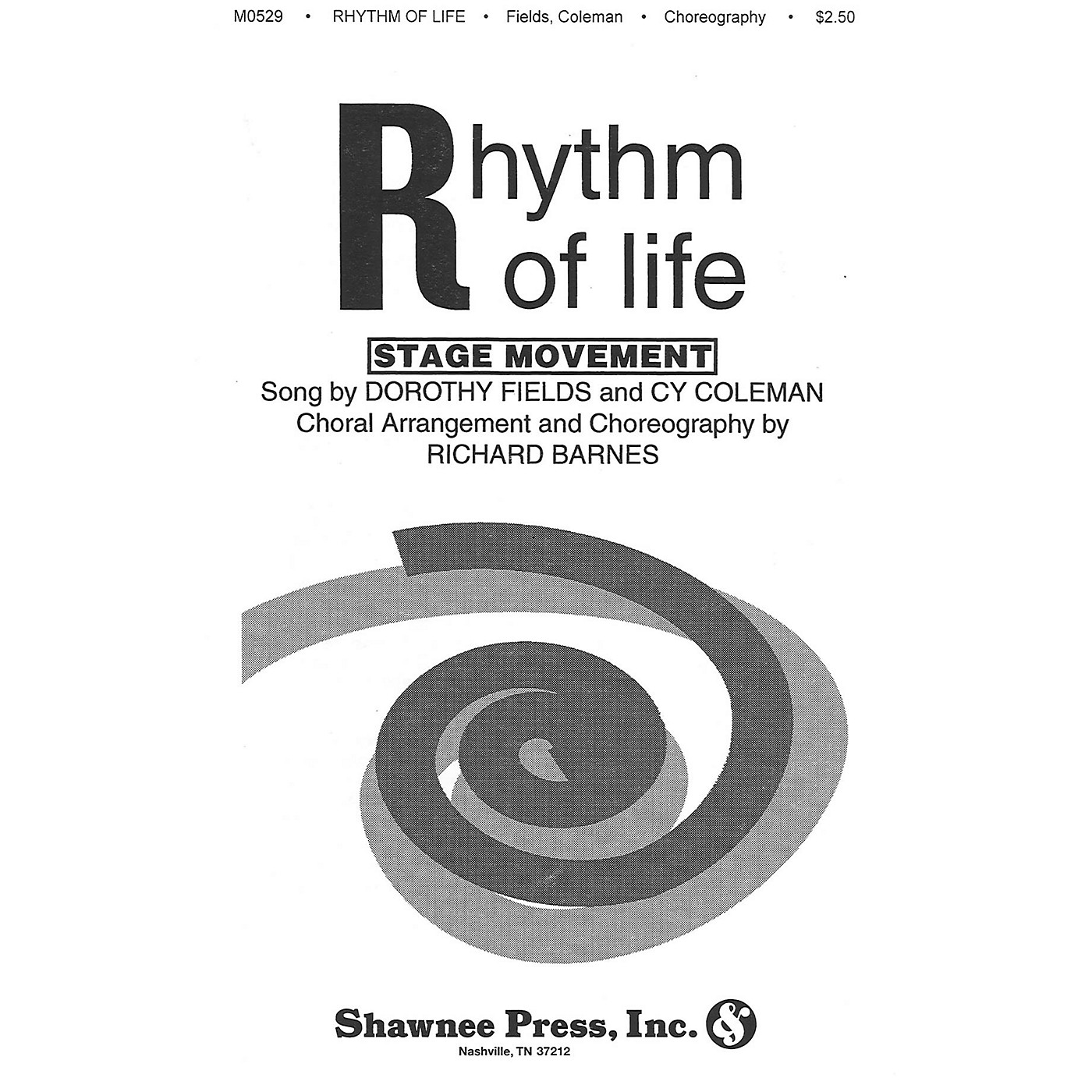Shawnee Press Rhythm of Life TTBB Arranged by Richard Barnes thumbnail