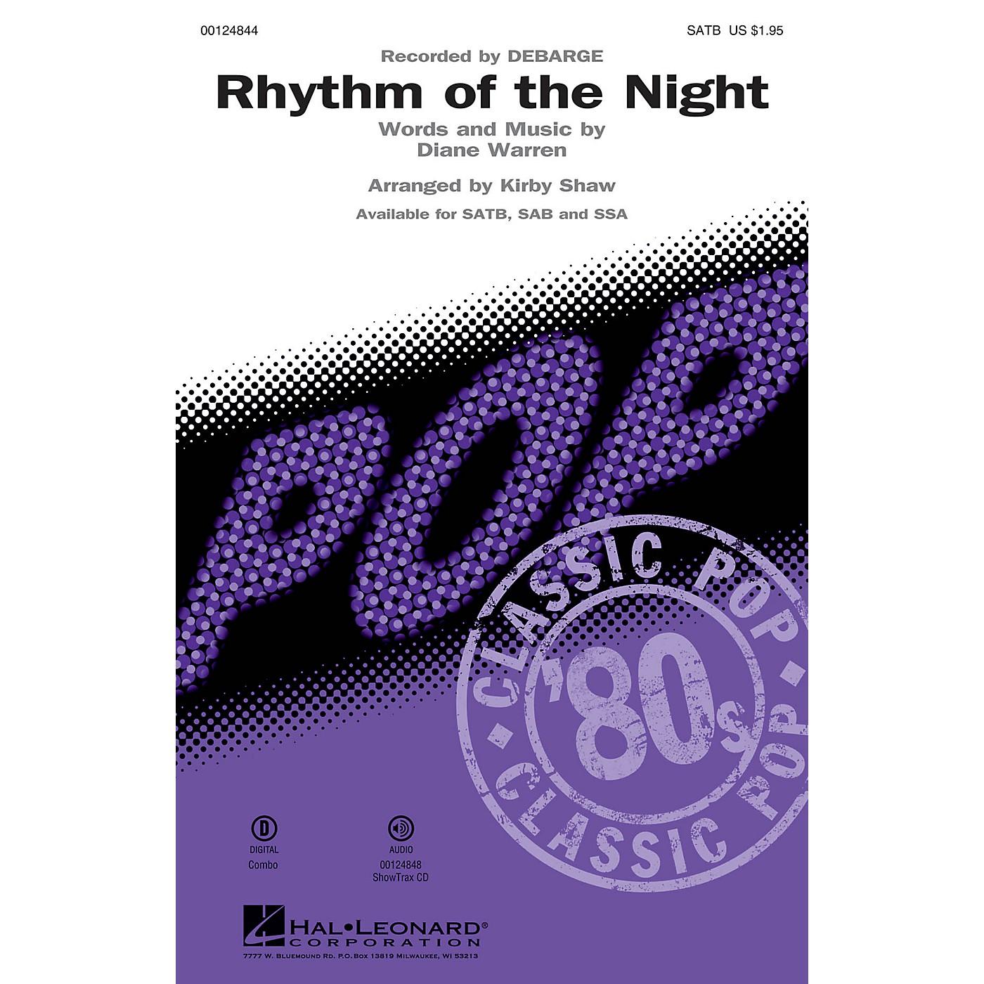 Hal Leonard Rhythm of the Night SAB by DeBarge Arranged by Kirby Shaw thumbnail