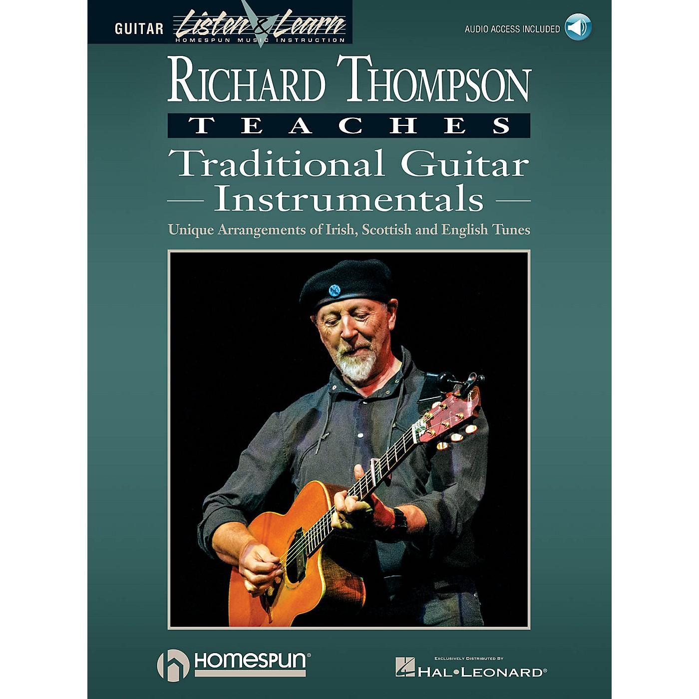 Homespun Richard Thompson Teaches Traditional Guitar Instrumentals Softcover Audio Online by Richard Thompson thumbnail