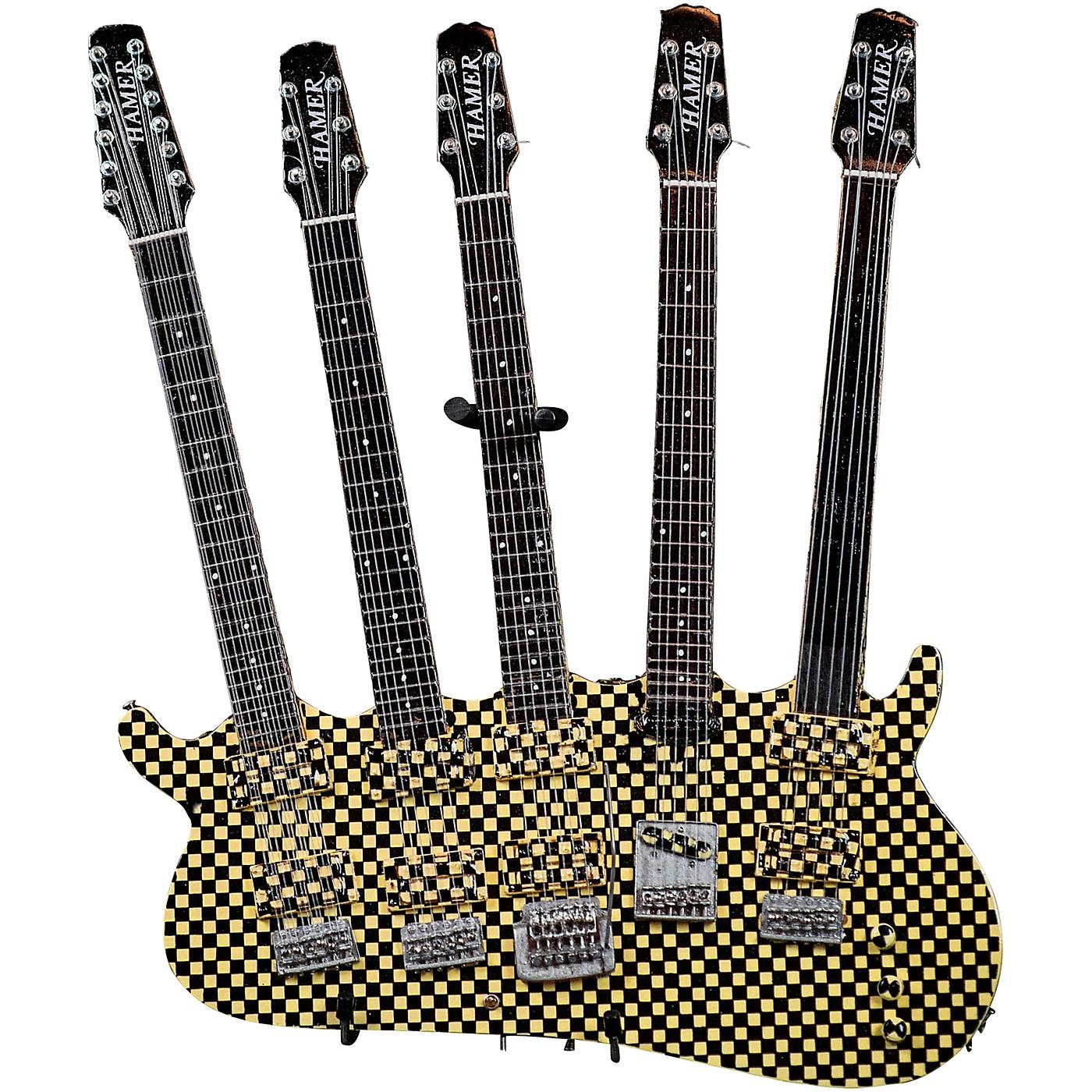 Hal Leonard Rick Nielsen 5-Neck Checkered Model Miniature Guitar Replica thumbnail