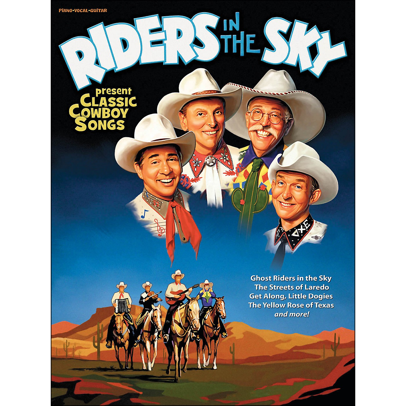 Hal Leonard Riders In The Sky Present Classic Cowboy Songs (Book) arranged for piano, vocal, and guitar (P/V/G) thumbnail