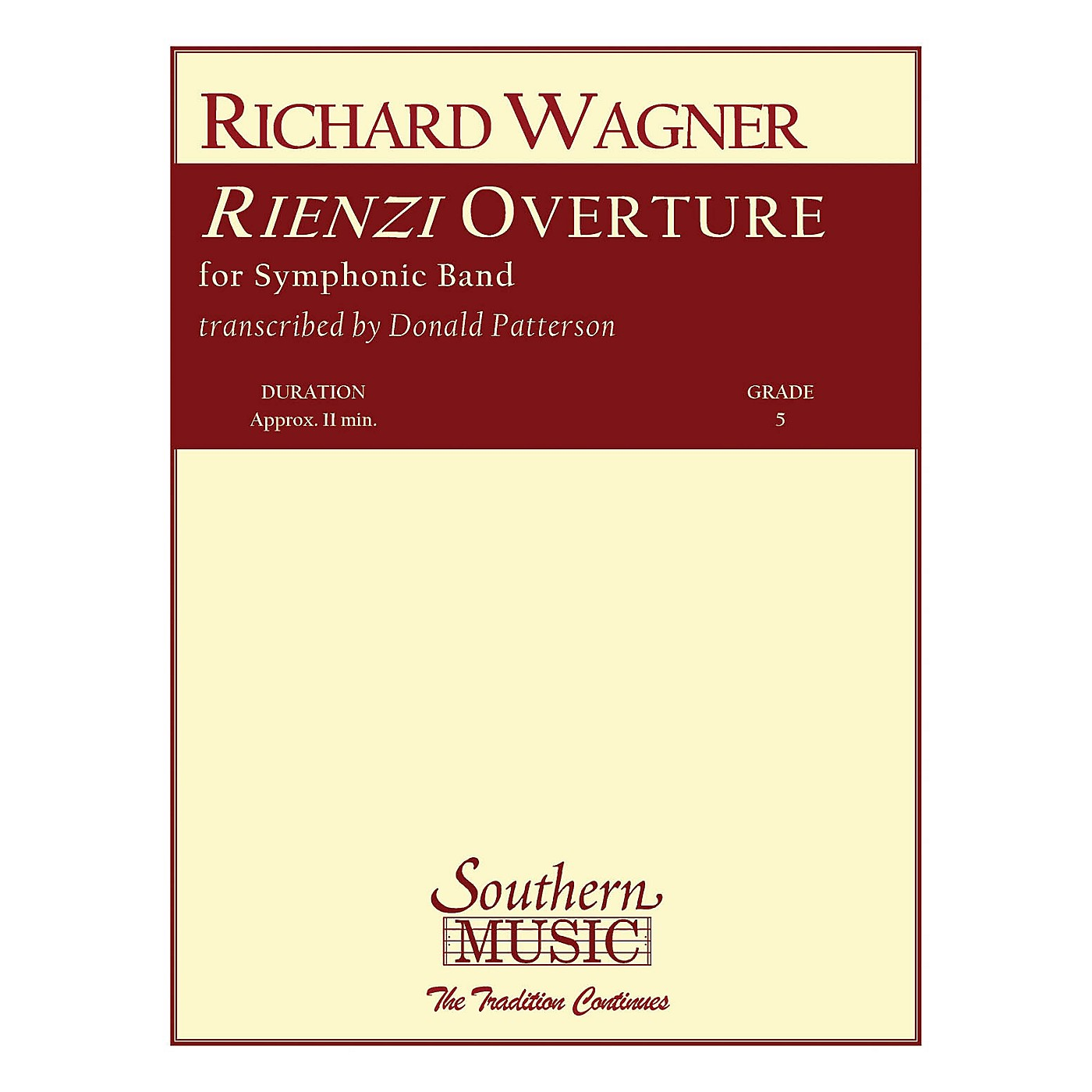 Southern Rienzi Overture (Band/Concert Band Music) Concert Band Level 5 Arranged by Don Patterson thumbnail