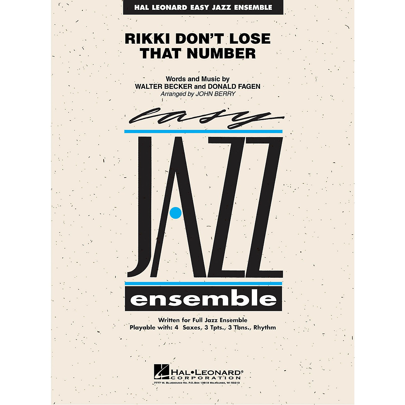 Hal Leonard Rikki Don't Lose That Number Jazz Band Level 2 by Steely Dan Arranged by John Berry thumbnail
