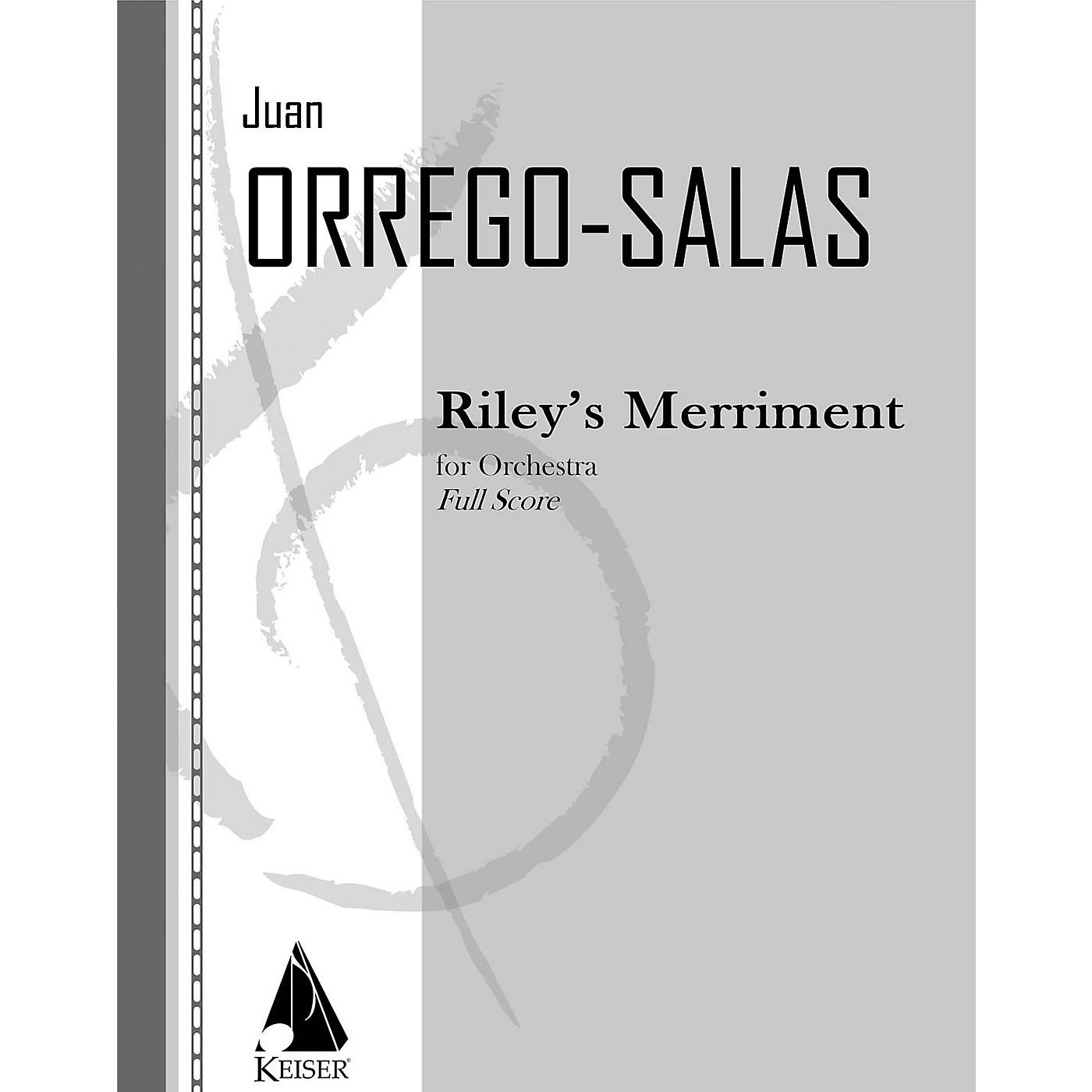 Lauren Keiser Music Publishing Riley's Merriment, Op. 94 LKM Music Series by Juan Orrego-Salas thumbnail