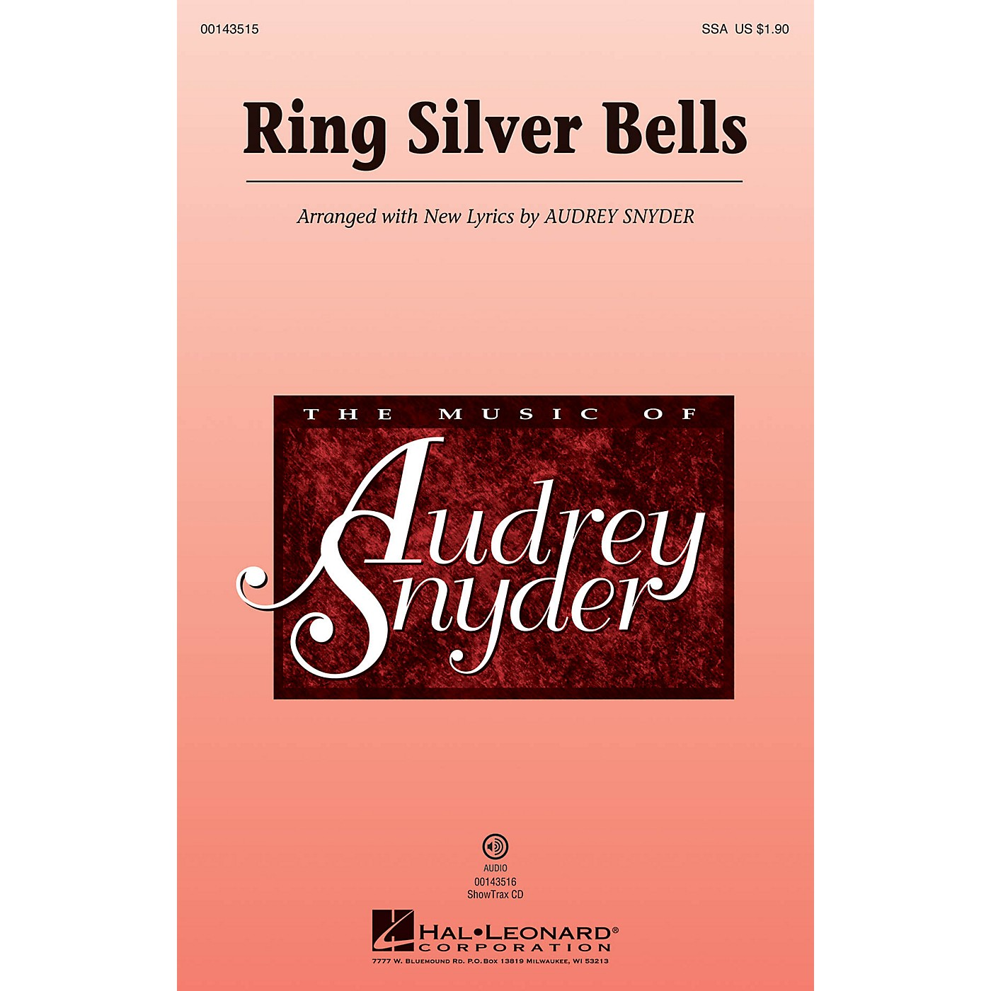 Hal Leonard Ring Silver Bells SSA arranged by Audrey Snyder thumbnail