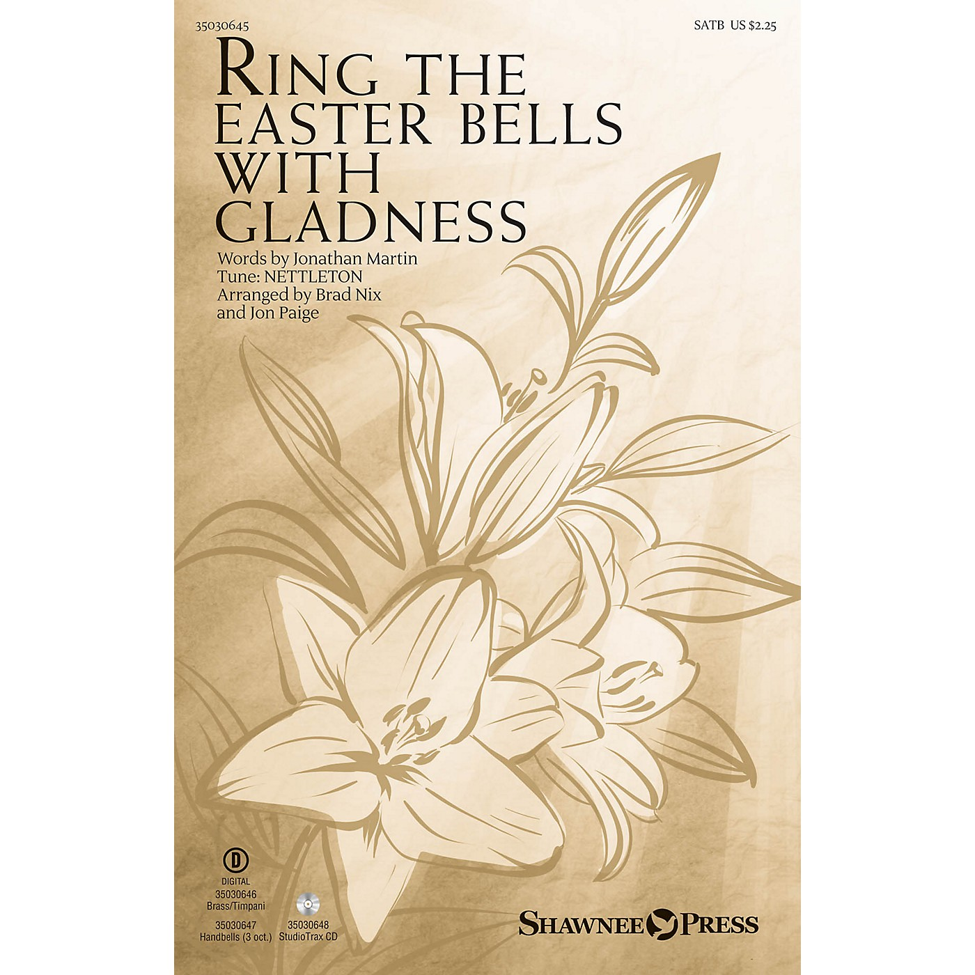 Shawnee Press Ring the Easter Bells with Gladness Studiotrax CD Arranged by Jon Paige thumbnail