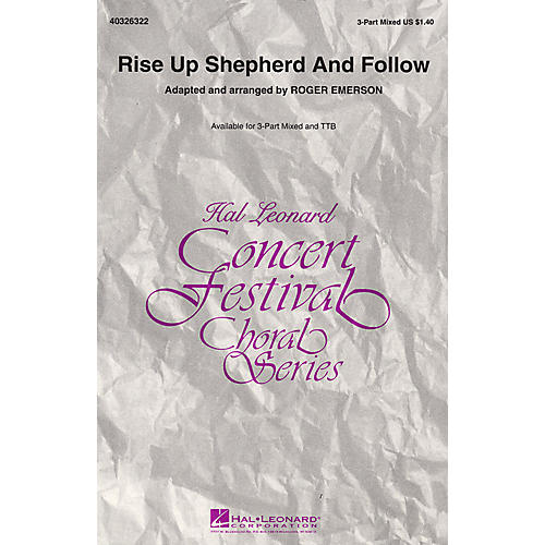 Hal Leonard Rise Up Shepherd and Follow TTB Arranged by Roger Emerson thumbnail