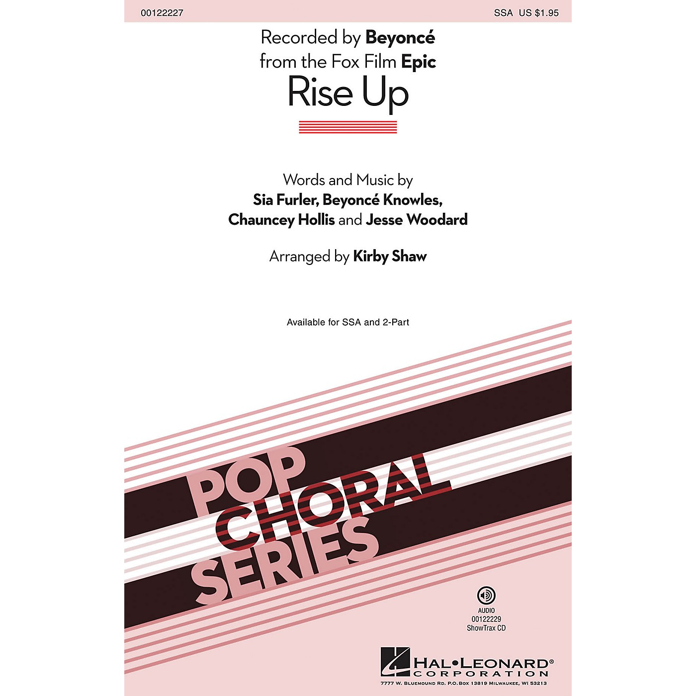 Hal Leonard Rise Up (from Epic) 2-Part by Beyonce Arranged by Kirby Shaw thumbnail
