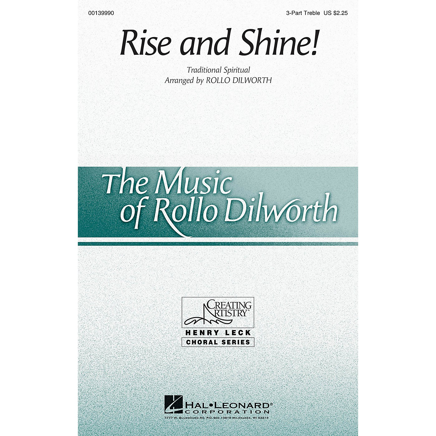 Hal Leonard Rise and Shine! 3 Part Treble arranged by Rollo Dilworth thumbnail