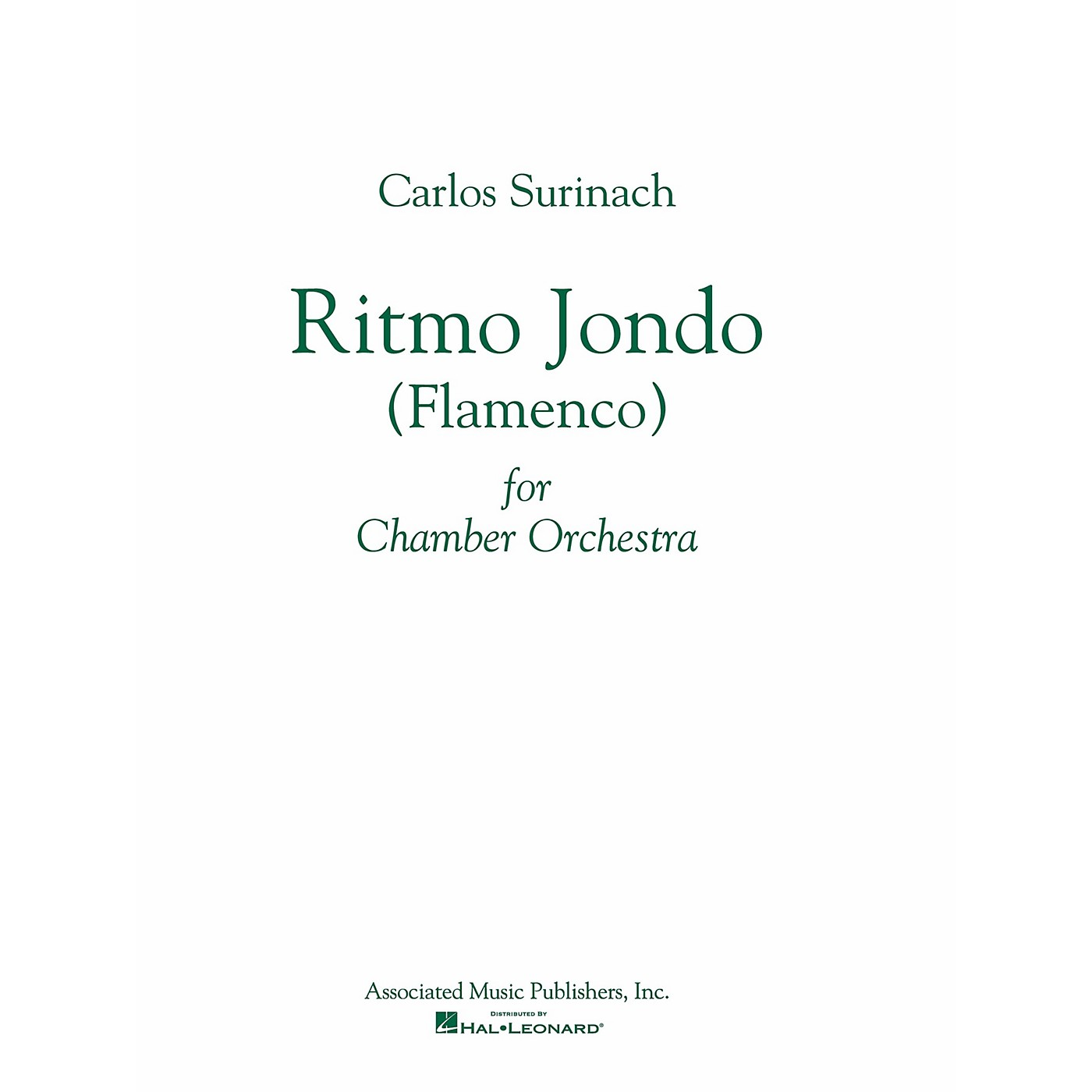 Associated Ritmo Jondo (Flamenco Ballet) (Study Score) Study Score Series Composed by Carlos Surinach thumbnail