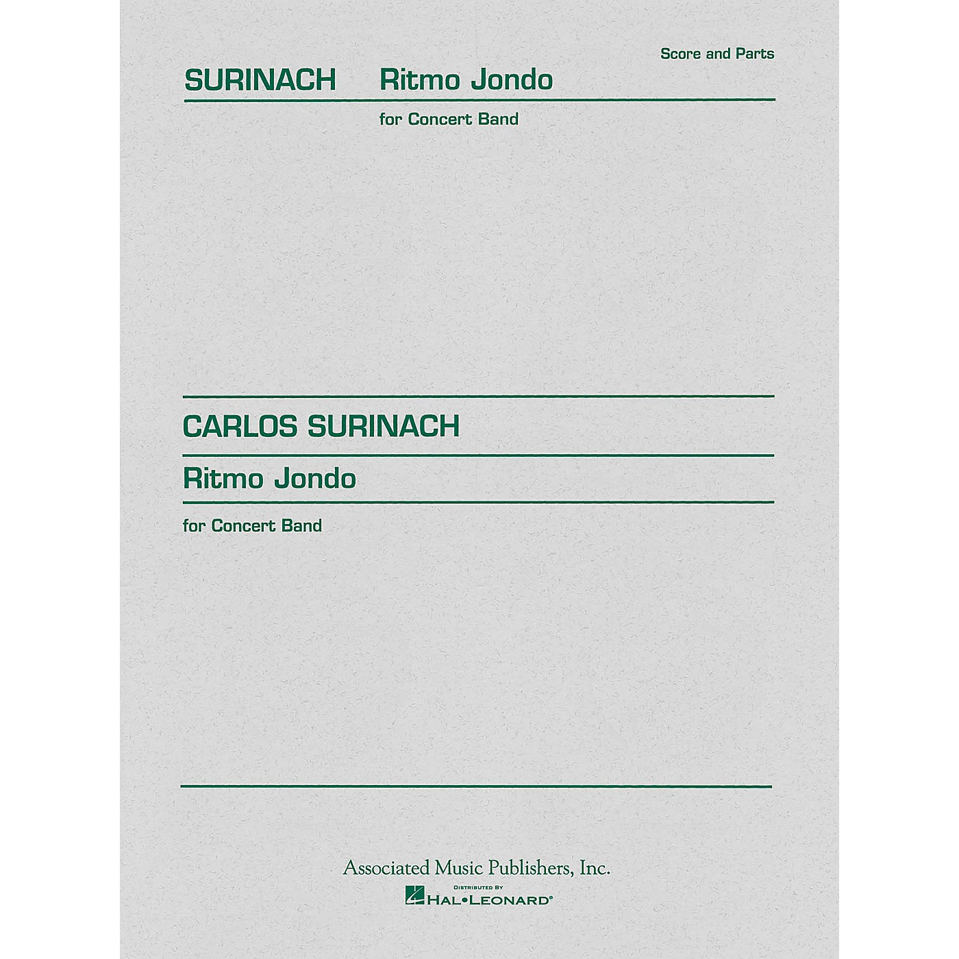 Associated Ritmo Jondo (Score and Parts) Concert Band Level 4-5 Composed by Carlos Surinach thumbnail