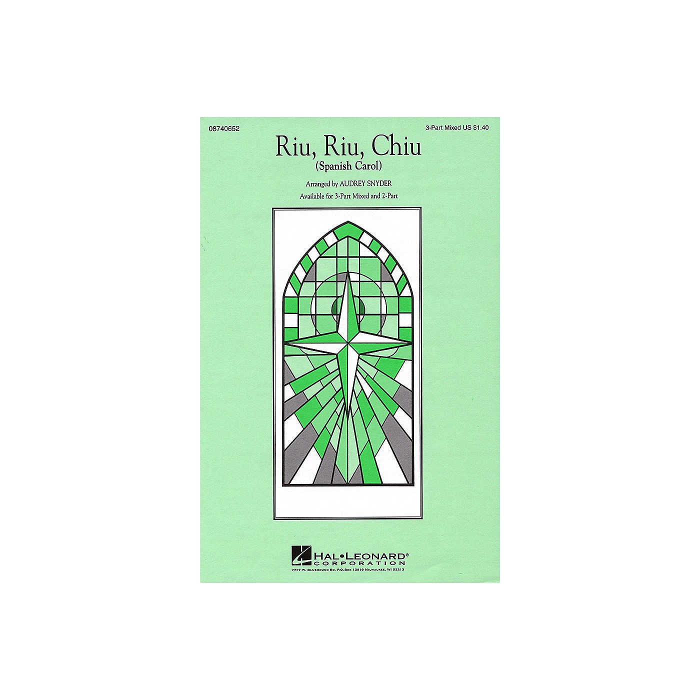 Hal Leonard Riu, Riu, Chiu 2-Part Arranged by Audrey Snyder thumbnail