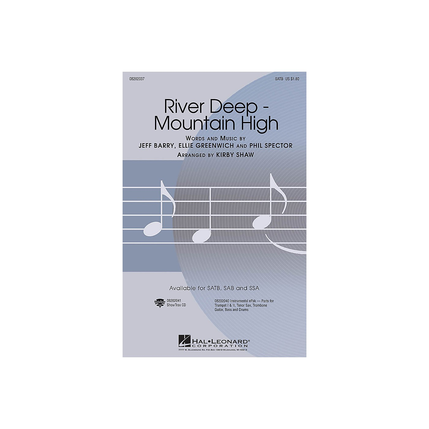 Hal Leonard River Deep - Mountain High SAB by Tina Turner Arranged by Kirby Shaw thumbnail