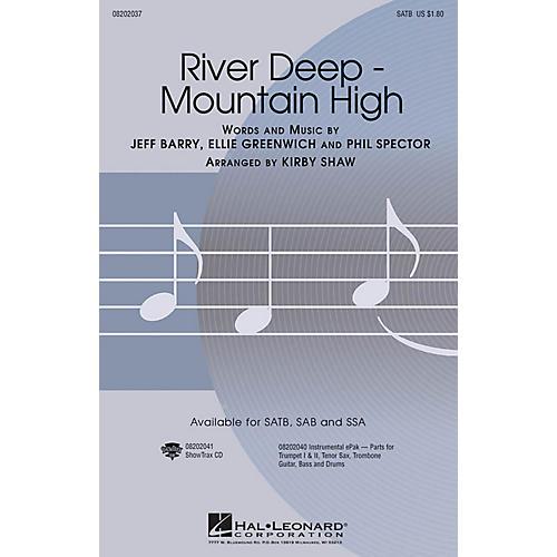 Hal Leonard River Deep - Mountain High SSA by Tina Turner Arranged by Kirby Shaw thumbnail
