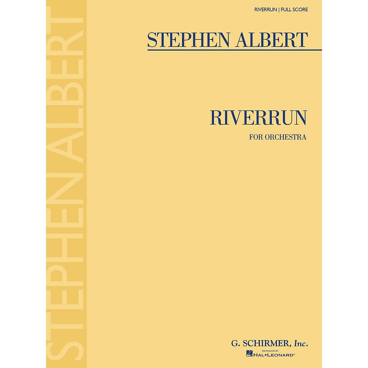 G. Schirmer Riverrun (Full Score) Study Score Series Composed by Stephen Albert thumbnail