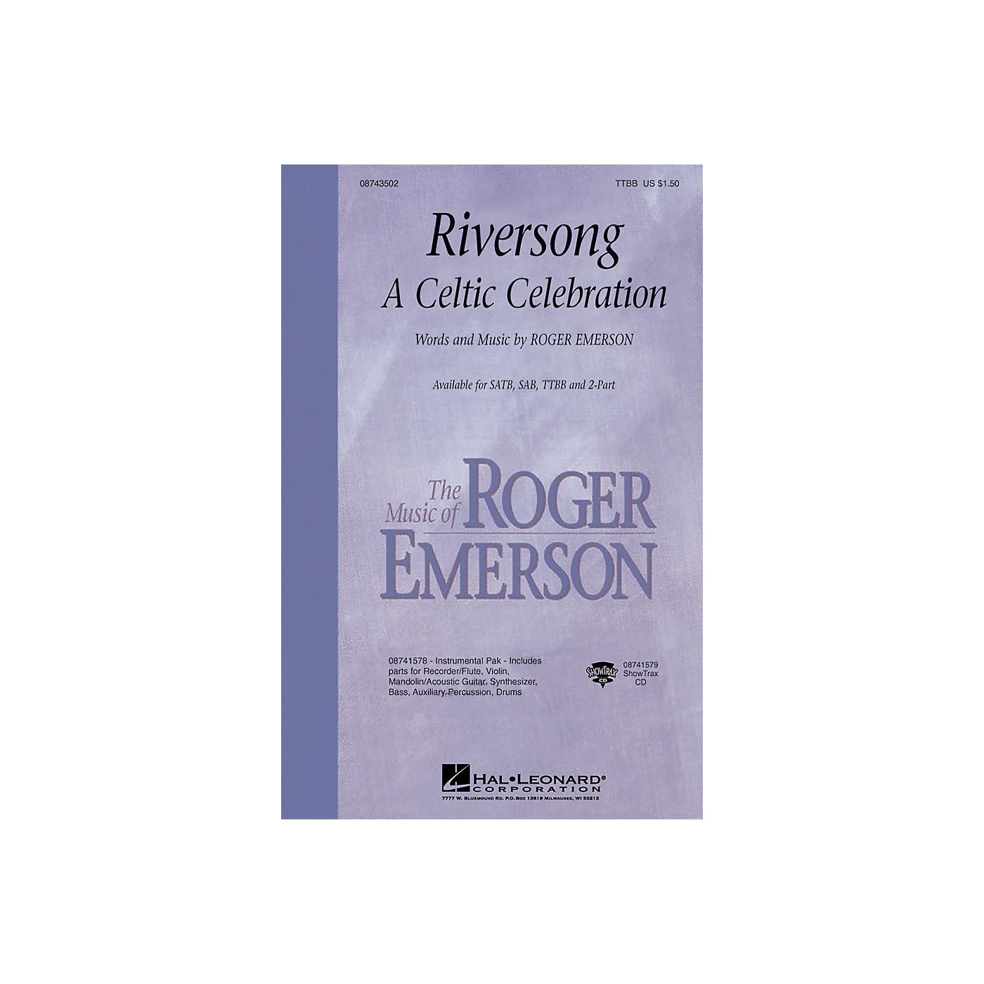 Hal Leonard Riversong (A Celtic Celebration) TTBB composed by Roger Emerson thumbnail