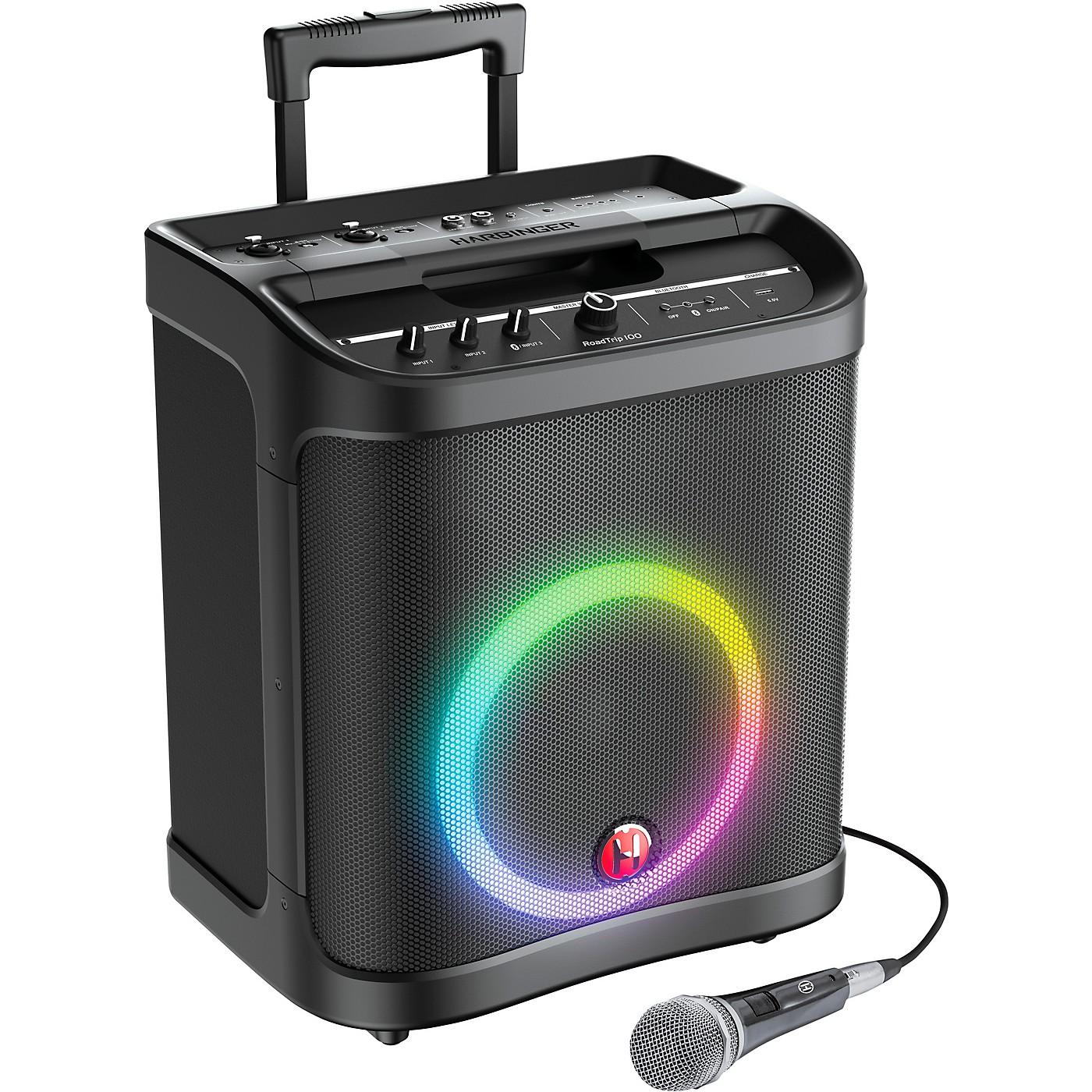 Harbinger RoadTrip 100 Mobile Sound System With Lights, Microphone, and Battery Power thumbnail