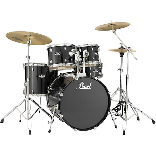 Pearl Roadshow Complete 5-Piece Drum Set with Hardware and Zildjian Planet Z Cymbals thumbnail