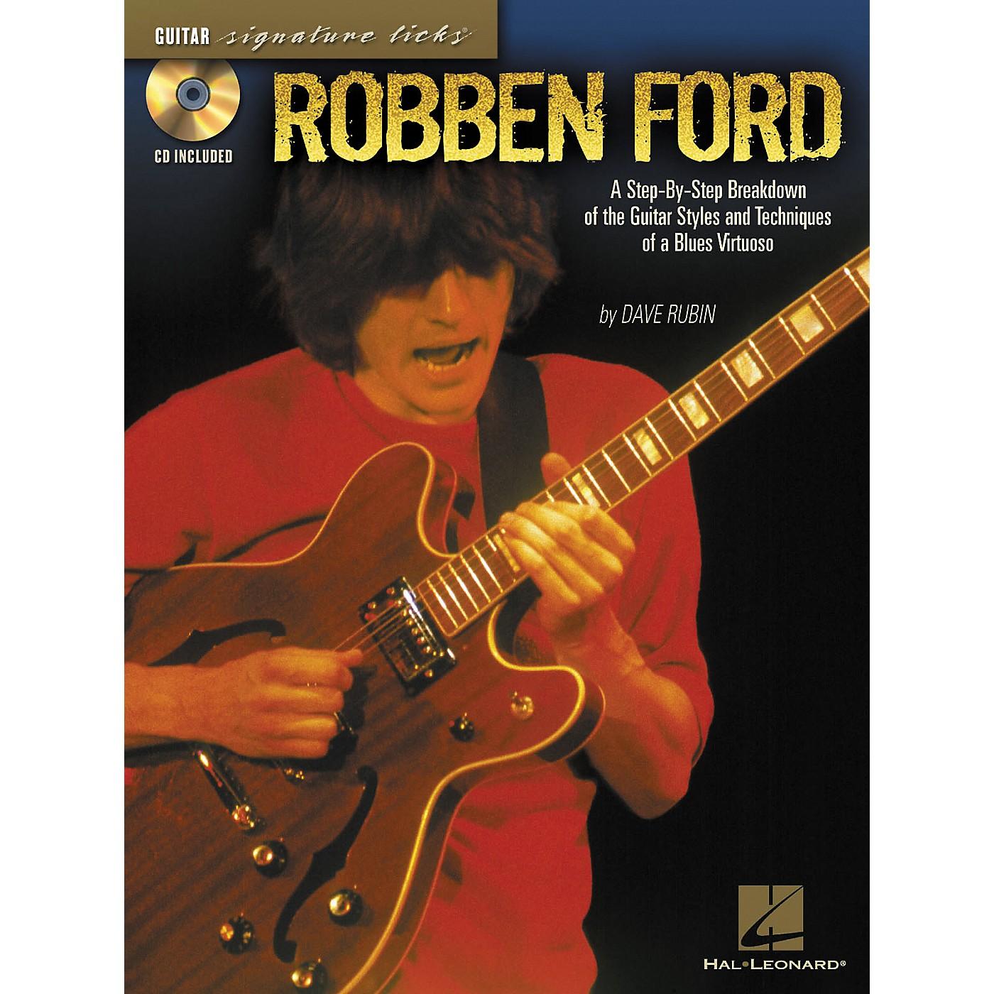 Hal Leonard Robben ford Signature Licks Book & CD thumbnail