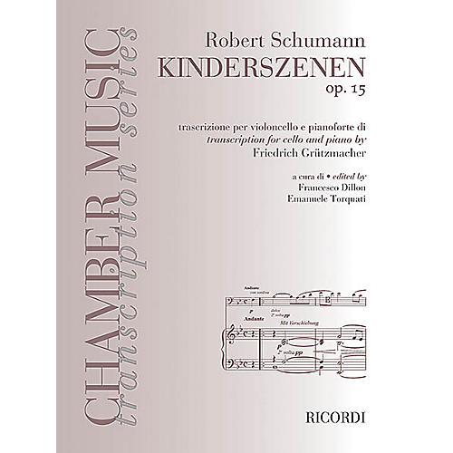 Ricordi Robert Schumann - Kinderszenen, Op. 15 (Cello and Piano) MGB Series Softcover thumbnail
