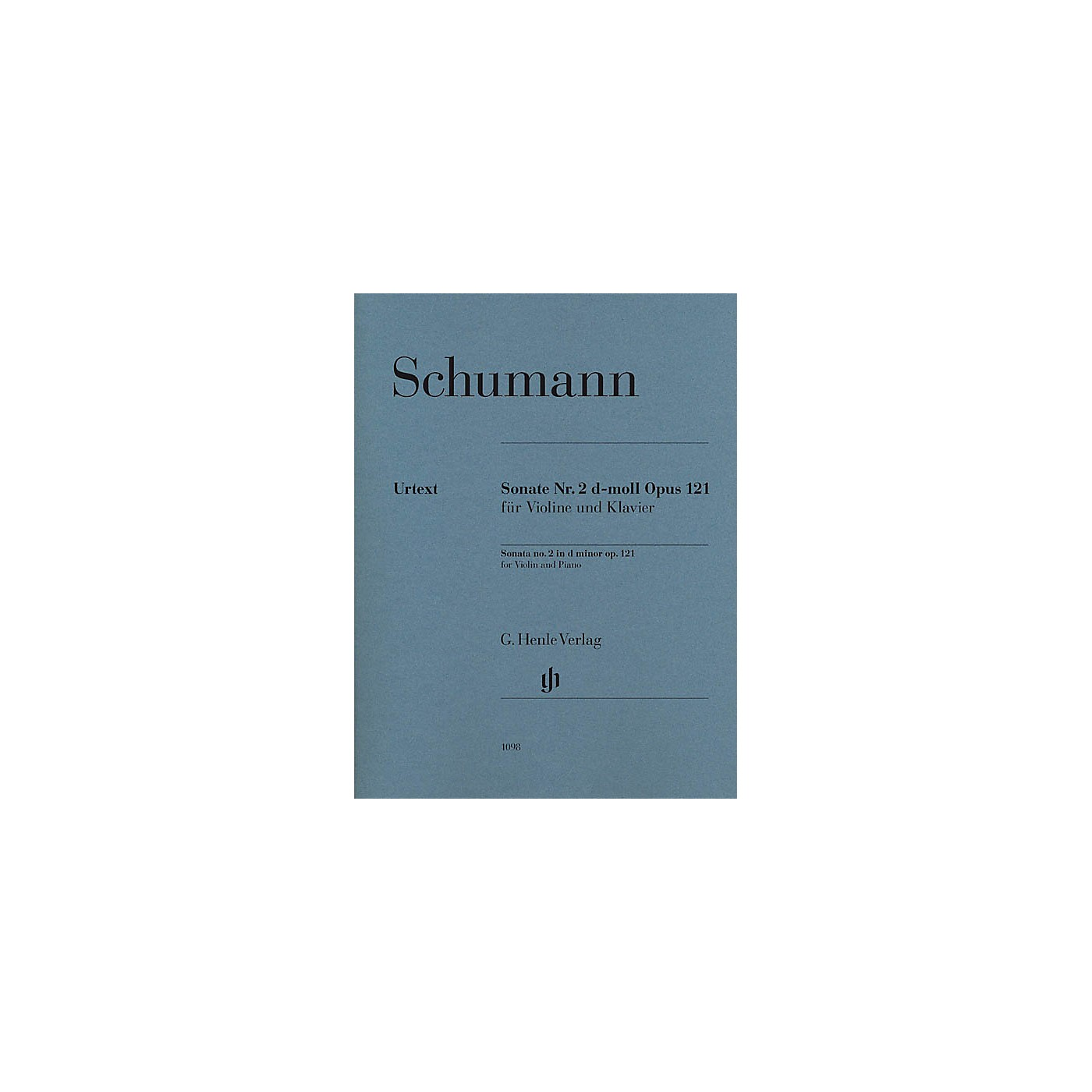 G. Henle Verlag Robert Schumann - Violin Sonata No. 2 in D minor, Op. 121 Henle Music Folios Softcover by Robert Schumann thumbnail