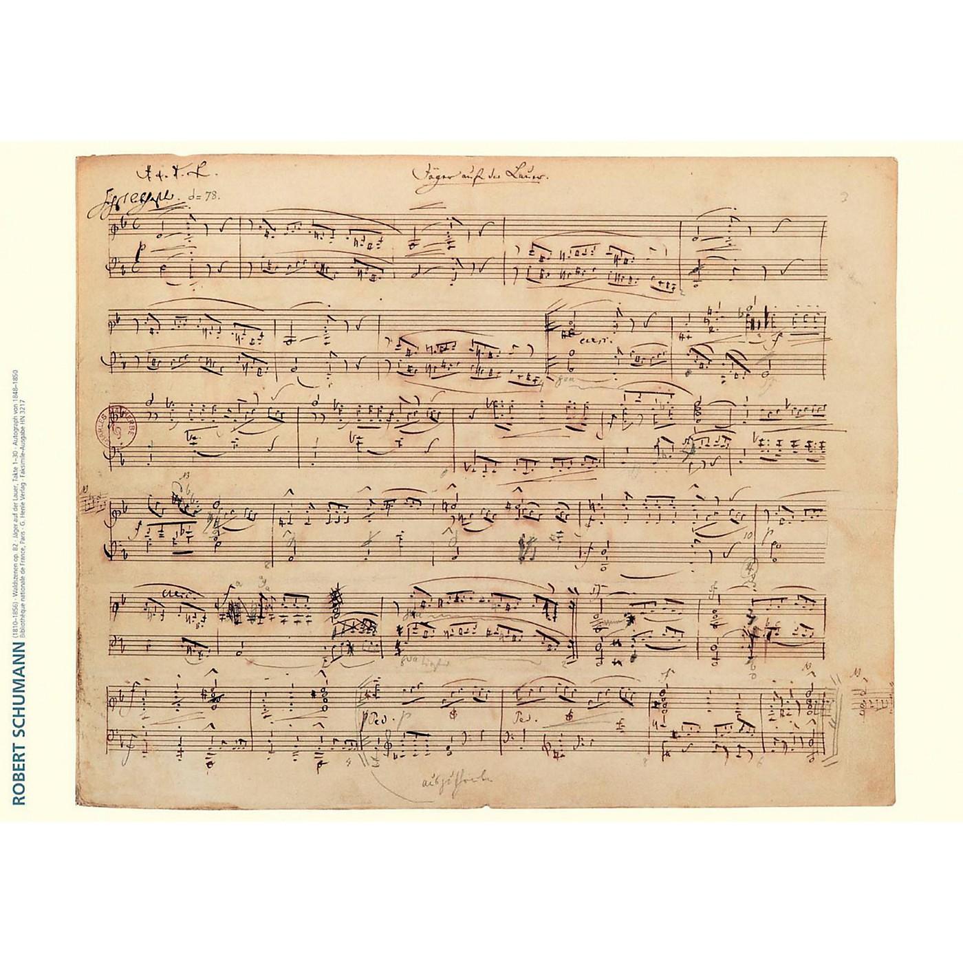 Axe Heaven Robert Schumann Music Manuscript Poster - Forest Scenes, Op. 82 thumbnail