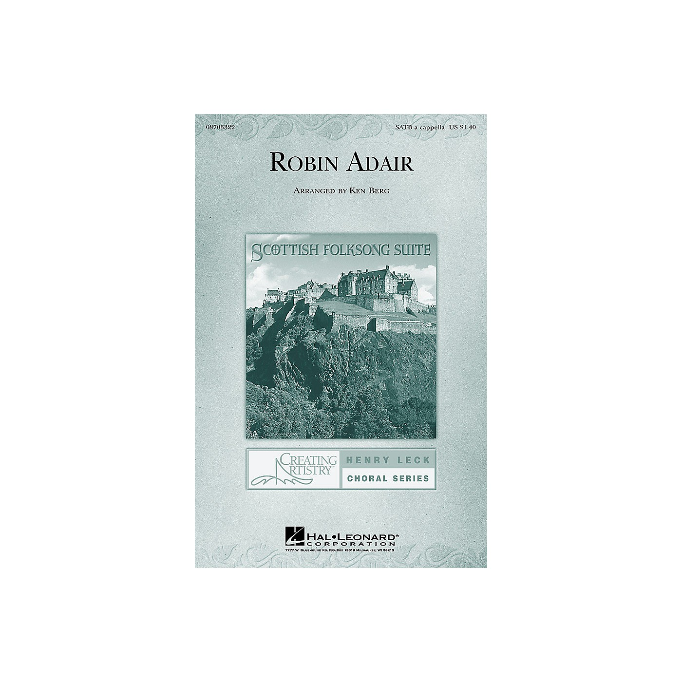 Hal Leonard Robin Adair (from Scottish Folksong Suite) SATB a cappella arranged by Ken Berg thumbnail