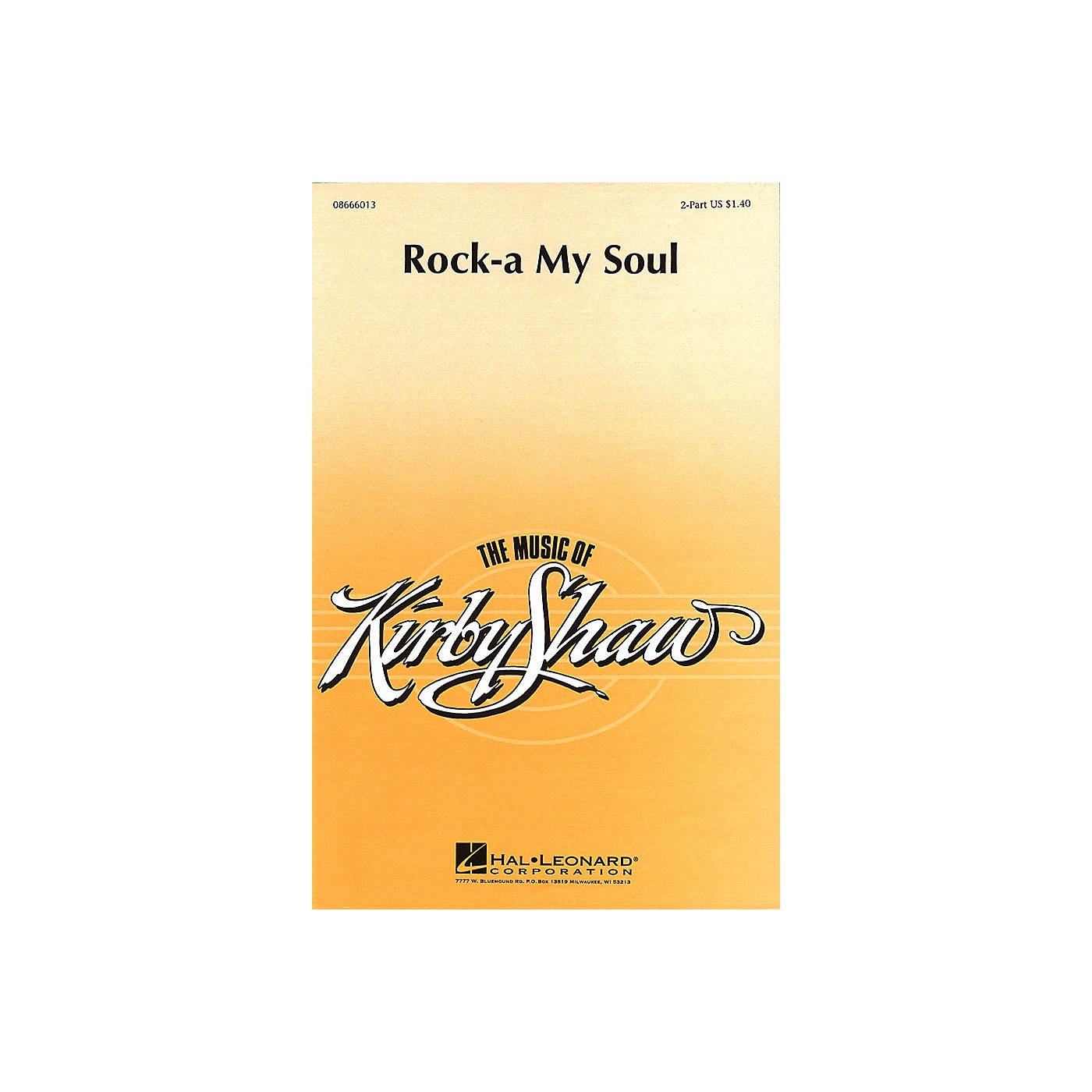 Hal Leonard Rock-A My Soul (2-Part and Piano) 2-Part arranged by Kirby Shaw thumbnail