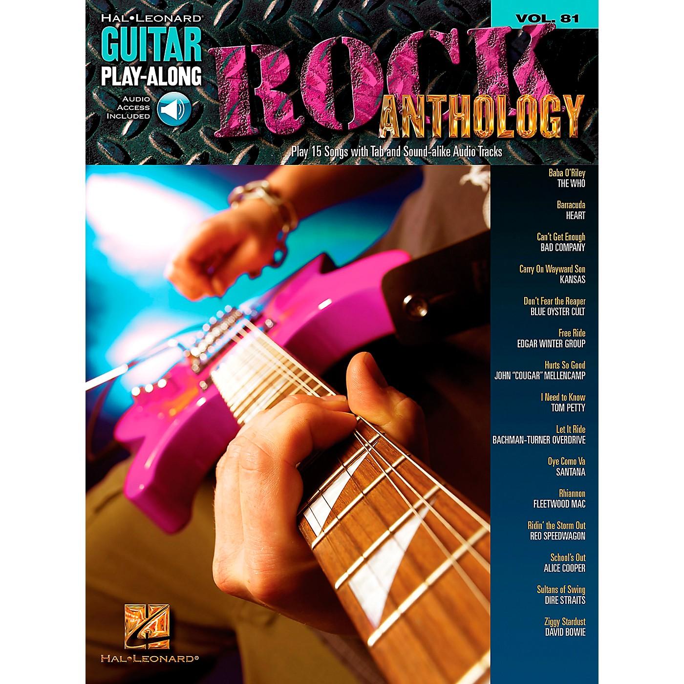 Hal Leonard Rock Anthology - Guitar Play-Along Series, Volume 81 (Book/CD) thumbnail