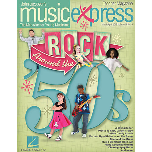 Hal Leonard Rock Around the '50s (March/April 2016) PREMIUM COMPLETE PAK by Ritchie Valens Arranged by Roger Emerson thumbnail