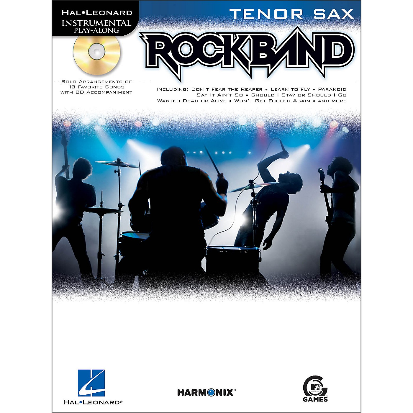 Hal Leonard Rock Band for Tenor Sax Instrumental Play-Along Book/CD thumbnail