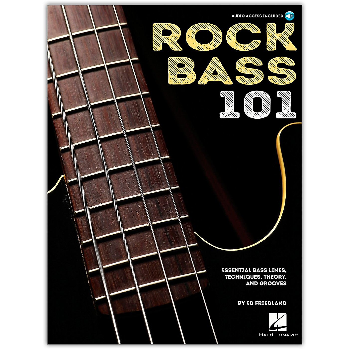 Hal Leonard Rock Bass 101 - Essential Bass Lines, Techniques, Theory and Grooves Book/Audio Online thumbnail
