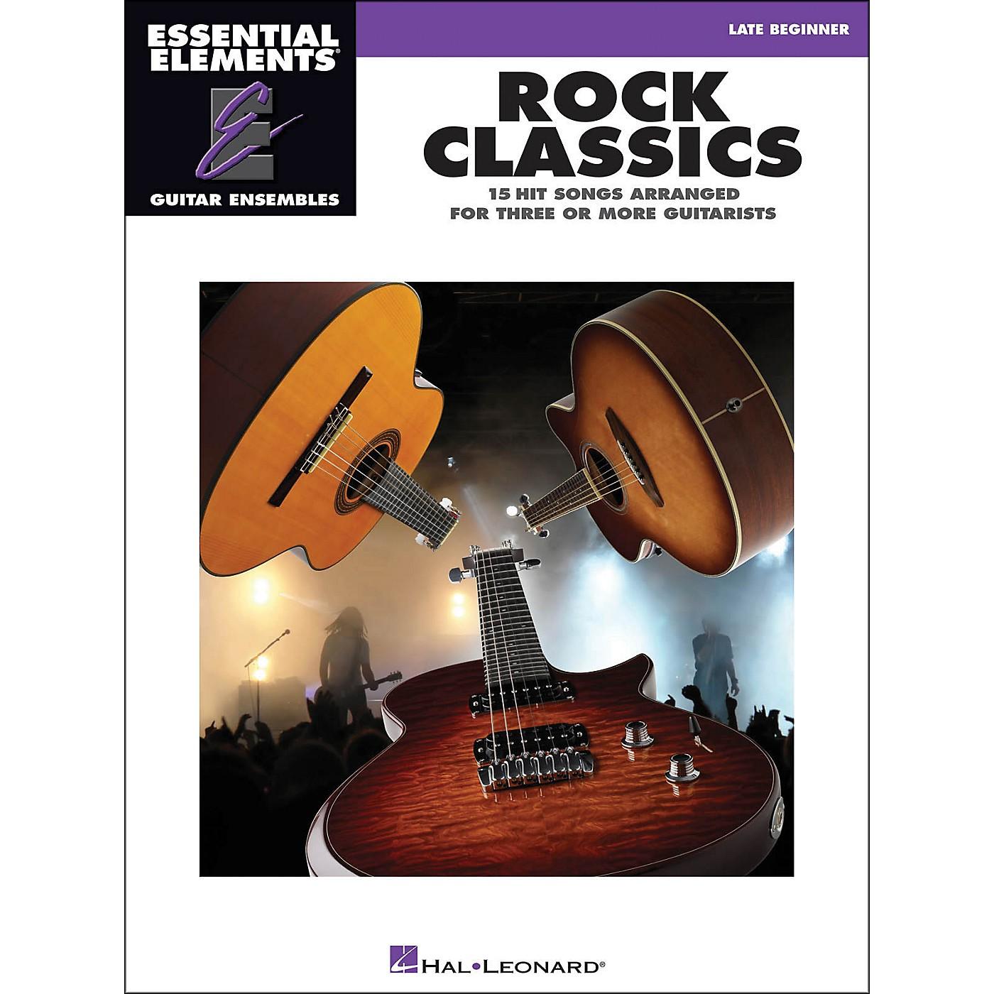 Hal Leonard Rock Classics - Essential Elements Guitar Ensembles Late Beginner thumbnail