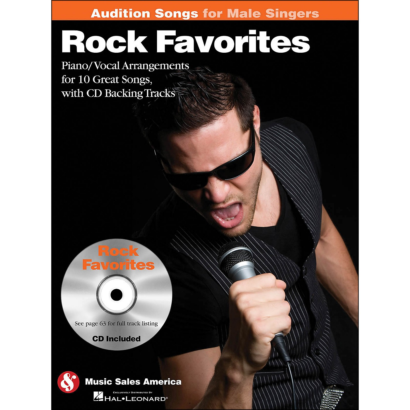 Hal Leonard Rock Favorites - Audition Songs for Male Singers Book/CD thumbnail