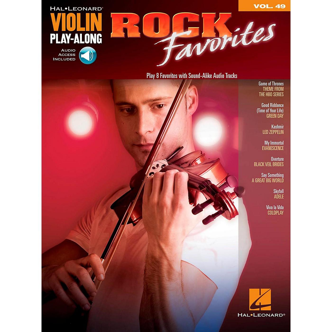 Hal Leonard Rock Favorites - Violin Play-Along Volume 49 Book/Online Audio thumbnail