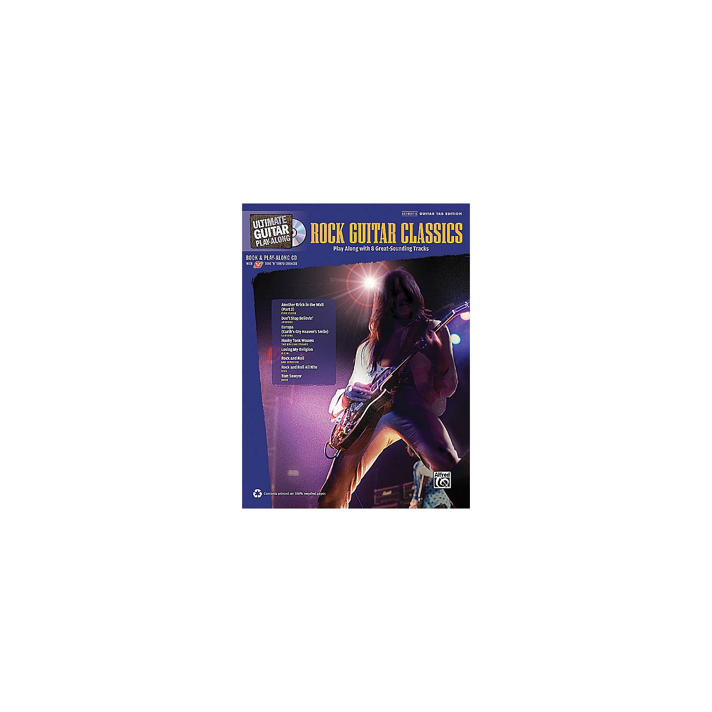 Hal Leonard Rock Guitar Classics (Ultimate Guitar Play-Along) Guitar Book Series Softcover with CD by Various thumbnail