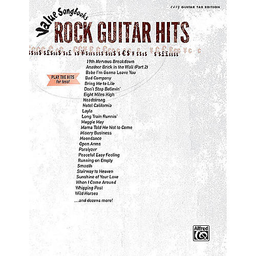 Alfred Rock Guitar Hits (Value Songbooks Series) Easy Guitar Series Softcover Performed by Various thumbnail