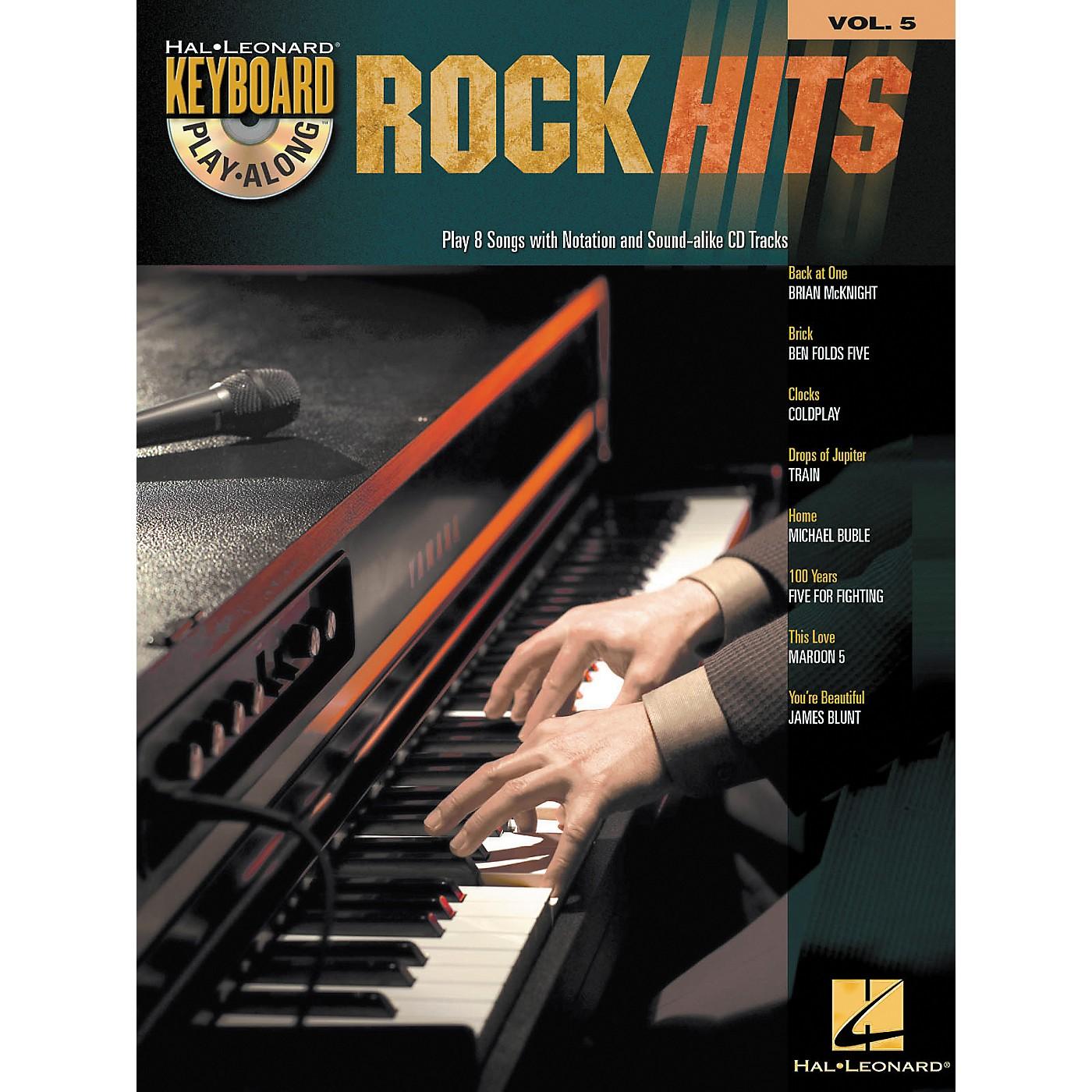 Hal Leonard Rock Hits - Keyboard Play-Along Series Volume 5 Book and CD thumbnail
