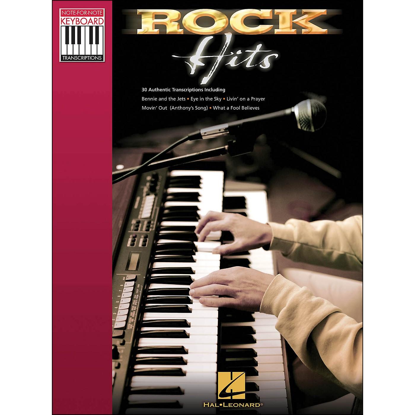 Hal Leonard Rock Hits - Note for Note Keyboard Transcriptions thumbnail