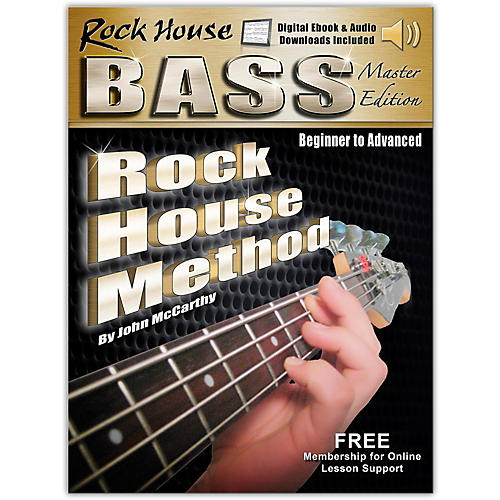 Hal Leonard Rock House Bass Guitar Master Edition Begining - Advanced Complete Book/Online Audio and Video thumbnail