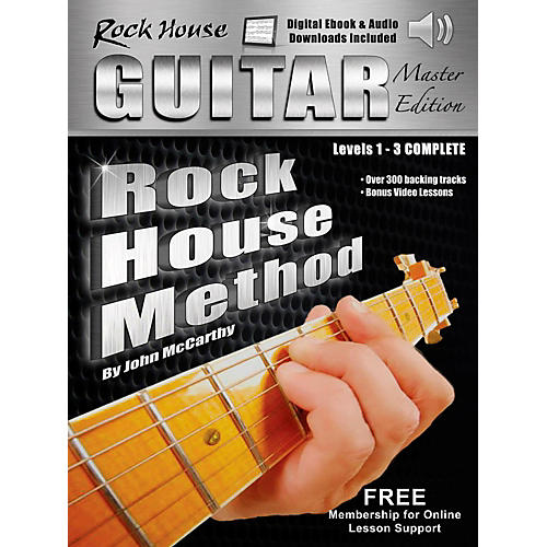 Rock House Rock House Method Guitar Master Edition Levels 1 - 3 Complete Book With Audio/Video Online thumbnail