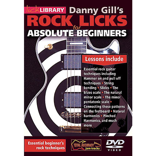 Hal Leonard Rock Licks For Absolute Beginners - Lick Library DVD thumbnail