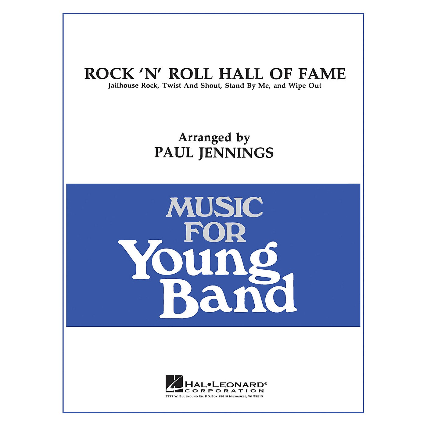 Hal Leonard Rock 'N' Roll Hall of Fame - Young Concert Band Level 3 by Paul Jennings thumbnail