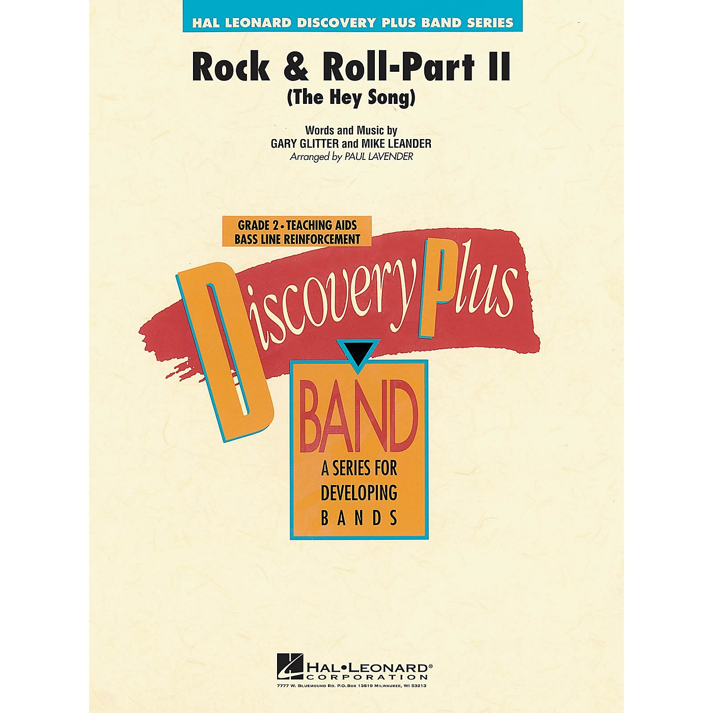 Hal Leonard Rock & Roll - Part II (The Hey Song) - Discovery Plus Concert Band Series Level 2 arranged by Paul Lavender thumbnail