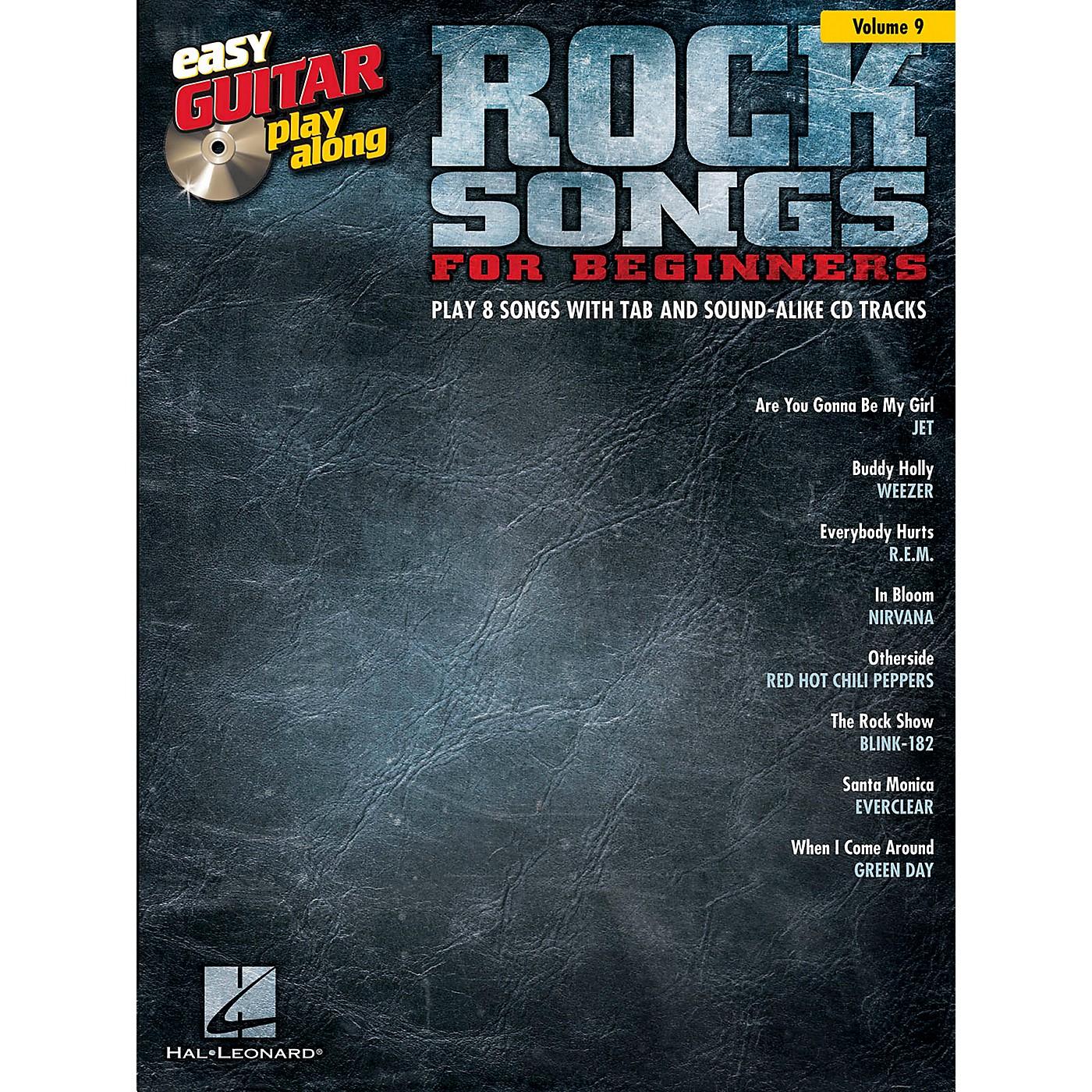 Hal Leonard Rock Songs For Beginners - Easy Guitar Play-Along Volume 9 Book/CD thumbnail