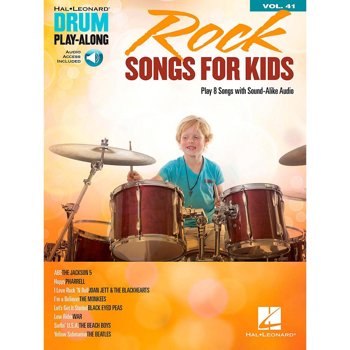 Hal Leonard Rock Songs for Kids - Drum Play-Along Volume 41 Book/Audio Online thumbnail