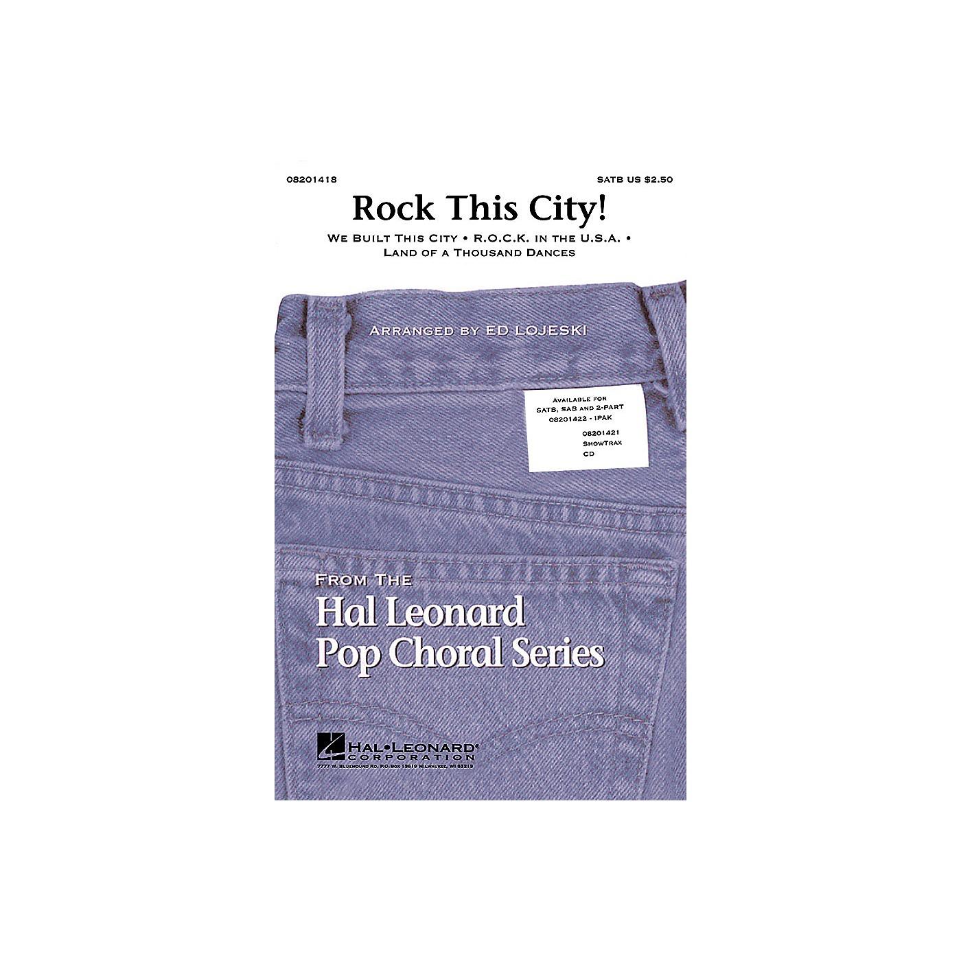 Hal Leonard Rock This City! (Medley) ShowTrax CD Arranged by Ed Lojeski thumbnail