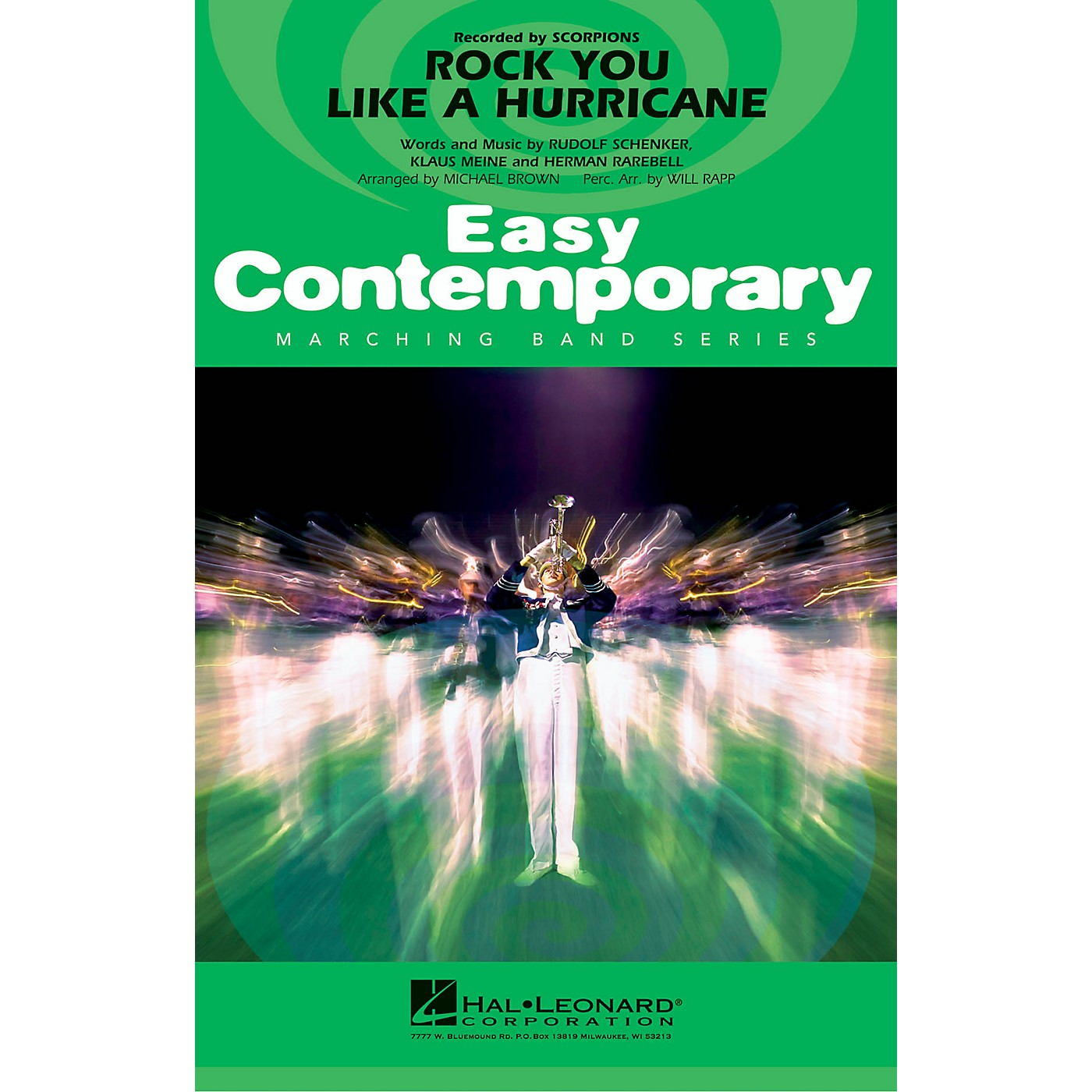 Hal Leonard Rock You Like a Hurricane Marching Band Level 2-3 by Scorpions Arranged by Michael Brown thumbnail